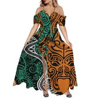 Casual Dresses Hycool Latest African Tribal Design Summer Women Wedding Party Dress Long Maxi Backless Plus Size Beach