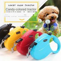 Dog Collars & Leashes Traction Rope Dada Bear Candy Color Automatic Retractable Tractor 5m Pet