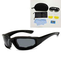 Óculos de sol e feminino ao ar livre Equitação de olhos proteção óculos de esqui Set CS Esponja tática polarizada