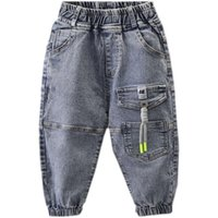 Jeans Spring Autumn Casual Trousers Baby Toddler Boy's Denim Pants Kids Children Stretchy Long Bottoms Clothing