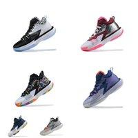Erkek Jumpman Zion 1 PF Ayakkabı Gençlik Çocuklar GEN 1S Sneakers Botlar ZNA Glow Karanlık DNA Marion Noah Gleffiti Siyah Beyaz Çok Renkli Pembe Michiga