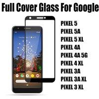 Полное покрытие закаленное стекло телефон защитник для телефона для Google Pixel 5 5A Pixel5 пиксель 4 4A XL 5G оптом 25 шт. / Пакет Принять смешанный заказ