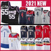 4 Russell Jason 55 Williams Westbrook Zion 1 Williamson Lonzo 2 Ball Basketball Jersey New WashingtonMagosSacramento.Kings.Orleans.Pelicanos.