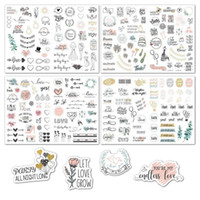 Gift Wrap 4 Sheets Wedding Bliss Stickers Waterproof Removable Love Eucalyptus Leaves Engagement Plan Package