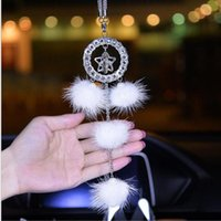Interior Decorations 2021 High End Laday Woman Car Interial Ornament Crystal Lucky Star Plush Pendant Accessories