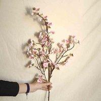 İpek Şeftali Çiçeği Şube Yapay Çiçek Noel Düzenleme Aksesuarları Sahte Kiraz Ev Düğün Dekorasyon Dekoratif Çiçekler Chreat