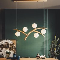 Pendant Lamps Creative Living Room Led Chandelier Light Luxury Simple Modern Personality Dining Study Decorative Corridor Lights E27