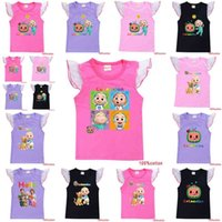 20 Styles girls Cocomelon T shirt summer cartoon sleeveless short sleeve cotton T-shirt cute kids s sweat shirt tank sportswear casual clothing tops G4YAM64