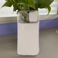 5pcs lot Sublimation blanks phone cases for iphone 12 11 pro max xs x 8 7 plus 6s case transparent camera protection DIY cover covers with aluminum plate insert