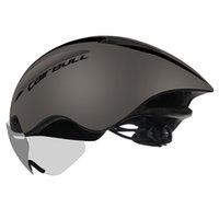 2019 Aero Radfahrenhelm Rennrad Sport Safety Riding Helm Magnetische Brille Pneumatisches Fahrrad 285g