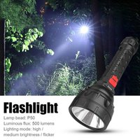 Flashlights Torches P50 LED 500LM USB Rechargeable Waterproof Outdoor Night Fishing Camping Hiking Lighting Lantern Tactical Torc