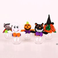 Gift Wrap Halloween Creative Small Transparent Candy Cookie Box Kid Trick Or Treat Jar DHD10698