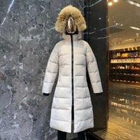 مصمم الشتاء داونز جاكيتات رجل إمرأة بطة بيضاء أسفل ستر طويل الرجال هودي أسود التسمية معطف المرأة الفراء سترة دافئة الملابس