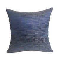 Geometric Mix Line Blue Woven Sofà Sedia Design Poltrona Poltrona Cuscino Poltrona Soft Home Decorativo cuscino decorativo 45 x 45cm cuscino / decorativo