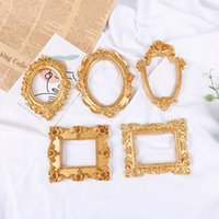 Cornici in oro retrò PO frame manicure cosmetici europei ornamenti Pografia sfondo studio puntelli
