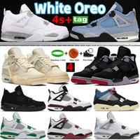 Üniversite Mavi 4 S 4 Basketbol Ayakkabıları Beyaz Oreo XSail Bred Paris Siyah Kedi Erkek Kadın Sneakers SP Çam Yeşil Taupe Haze Neon Eğitmenler