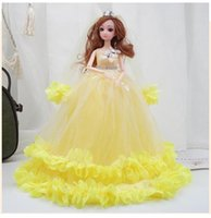 40cm Colorful Wedding Dress Barbie Doll Princess Evening Party Clothes Wears Long Dress Outfit Set Accessories Kids Girl Toy
