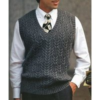 Designer Mens Sweater Vest Spring Autumn Streetwear Casual Men Clothing Big Sale Slim Fit Solid Color Sleeveless Sweaters Tops