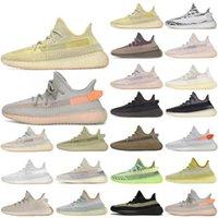 Kanye West Gri Sakız Çöl Sage Cinder Işık Yansıtıcı Sneakers Zyon Keten Marsh Keten Kadın Erkek Koşu Sneakers Chaussures Spor Ayakkabı