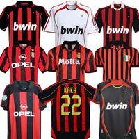 90 91 Retro Gömlek Ev 96 97 Gullit Futbol Forması 01 02 03 Maldini Van Bastten Futbol Ronaldo Kaka Inzaghi 06 07 AC Milano 2009