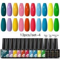 Nail Gel 9 13Pcs set Polish Set 120 Colors Glitter Semi Permanent Hybrid Varnish Base Top Coat Soak Off UV LED Art