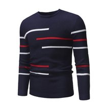 Men's autumn casual round-neck striped pullover for men, designed teenagers, oversized knit men's sweater 211025