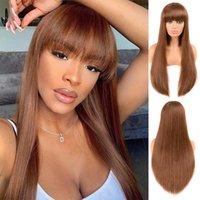 Bangs hetpin de cabelo quente com cabelos retos cheios e longos