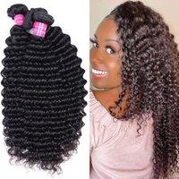 10A Remy Hair Bundles Brazilian Hair Weaves Unprocessed Deep Wave Water curly Hair Extensions 4 Bundles
