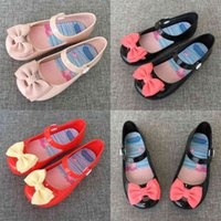 2021 Summer Autumn Children's Fashion Girls' Sandals Bow Button Princess Single Shoes Butterfly Baby Kids Slippers Candy Colors Shoes H916QQLF