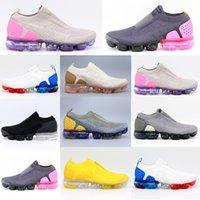 [Kutu ile]Air vapormax 2019 2018 Flyknit 2.0 3.0 running shoes Chaussures de course Triple multi-couleurs CNY pur Platinu Blanc Dusty Cactus minuit marine Hommes Femmes