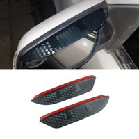 For Volkswagen CC 2012-2021 Auto Car Stickers Side Rear View Mirror Rain Visor Carbon Fiber Texture Eyebrow Sunshade Guard Cover Shield