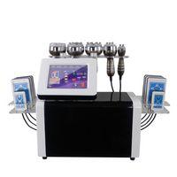 2021 slimming 6 in 1 40K ultrasonic cavitation machine multipolar RF vacuum 8 pads lipolaser BIO microcurrent beauty