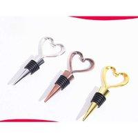 Love Heart-shaped Bottle Stopper Bar Tool Red Wine Grape Champagne Bottle Stopper Wedding Party Gift