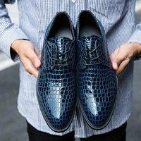 Kleid Schuhe Herren High-Heel Oxfords Formale Leder Britisch Stil Business Office Elevator Eleganter Hochzeit Bräutigam für Männer