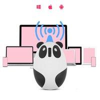マウスのコンピューターマウスゲーマーの女の子漫画ピンクの無線USB光Mute 1200dpi Pandaデザインの小さな手のためのラップトップ