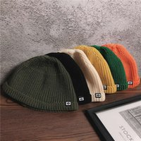 أزياء رجالية skullcap الكورية محبوك الصوف الهيب هوب الشارع hoodlum yapi الخريف الشتاء baotou قبعة الباردة