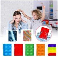 US Stock dhl nuovo notebook A5 il suo favore push up dito bolla copertura del silicone notepad forniture per studenti rifornimenti per studenti decompressione fidget giocattoli
