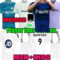 21 22 LEEDS ALL AWAY SOCCER JERSEY 2021 2022 T-shirt de football Home Home Phillips Firpo Junior Bamford Raphinha Diego Llorente Rodrigo Blue Hommes Femme Kids Kits Uniforme