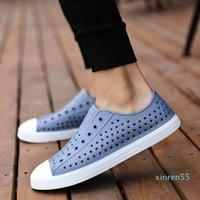 Frank Native Men Summer Clogs Sandals Couple Slip-proof Soft Sandalias Hombre Adult Hollow-out Beach Shoes Waterproof 36-45 Y200107