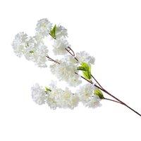 Árvore de cereja artificial videira filial de flor falsa Sakura haste para evento casamento decorativo