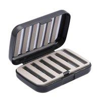 25 # 낚시 태클 상자 양면 거품 방수 플라스틱 4 칸막이 미끼 훅 스토리지 액세서리
