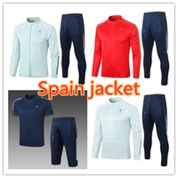2021 Espanha Adulto Jaqueta Futebol Tracksuit Camiseta España Ramos Paco Alcacer Morata Thiago Saul Fabregas 2021/22 Futebol Treinamento Terno