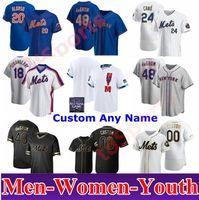 남성 여성 키즈 뉴욕 피트 앨론소 Mets 2021 올스타 게임 야구 저지 48 Jacob Degom Darryl 딸기 Keith Hernandez 드와이트 Gooden 31 Piazza