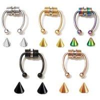 Moda Magnética Piercing Piercing Aço Inoxidável Nariz Ring Liga Septo Anéis Para As Mulheres Corpo Jóias Presente