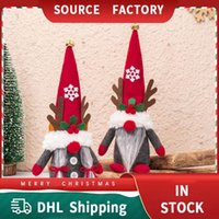 Christmas Decorations Doll Plush Toys Deer Dolls Girls Children Gifts Cute Clause Hanging Ornaments Decoration for Home Party DHL FREE Santa Claus Homeheld