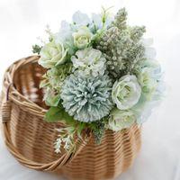 Decorative Flowers & Wreaths Artificial Roses Bridesmaids Bouquet Silk Fake For DIY Home Garden Wedding Decoration