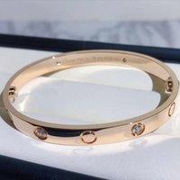 أزياء نسخة عالية الذهب المسمار سوار مسمار الإسورة pulsera braccialetto للرجال والنساء حزب الزفاف الأزواج هدية مجوهرات مع مربع