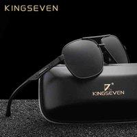 النظارات الشمسية Kingseven الألومنيوم ماركة الاستقطاب الرجال أزياء نظارات الشمس السفر القيادة النظارات الذكور oculos n7188