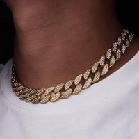 Luxury Designer Jewelry Men and Women Necklaces Punk Micro-inlaid Womens Chain Full Of Diamond Hip Hop Hipster Necklace