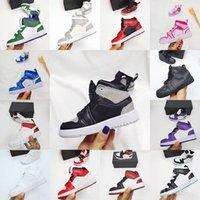 2021 Новейшее Высочайшее Качество 1 1 1 Детские Баскетбольные Обувь Высокий Малыш Малыш Дизайнер Свет Оранжевый Красный AJ Air Jordan Jordans Детская Обувь 24-35 J6un #
